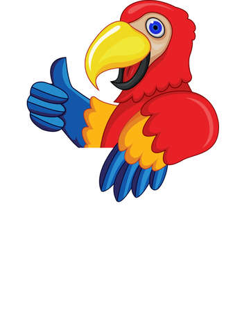 Parrot With Blank Sign Vector
