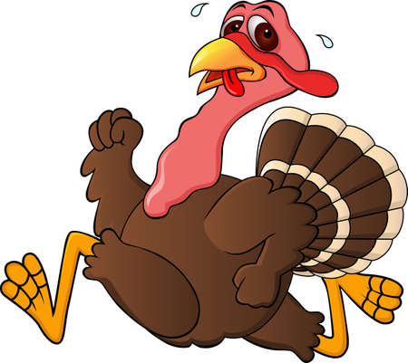 seasonable: Running Turkey Illustration