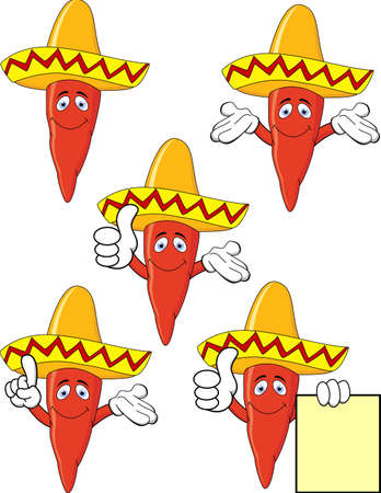 Chili with sombrero Vector