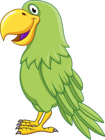 loros verdes: Green Parrot Vectores