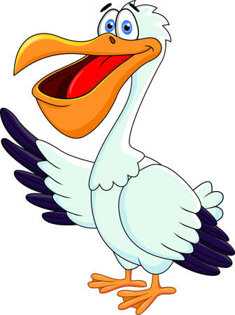 Pelican Cartoon Vector
