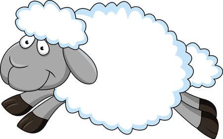 zwart schaap: Schapen Cartoon Stock Illustratie