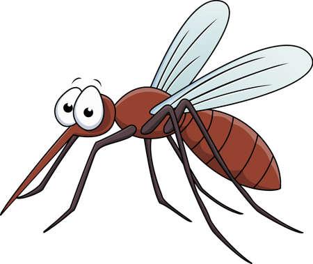 蚊の漫画のベクトル イラスト  イラスト・ベクター素材