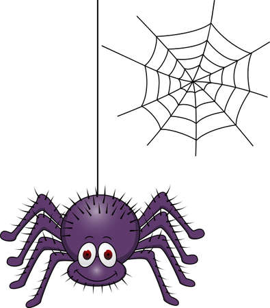 spiderweb: Spider cartoon