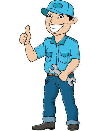 repairmen: Mechanic Man Illustration