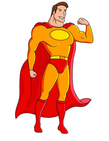 superhero cape: Superhero cartoon character