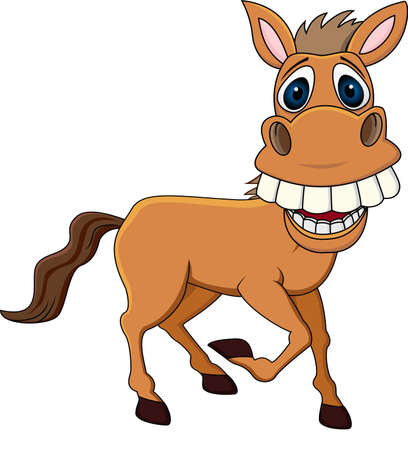 Smiling horse cartoon Vector