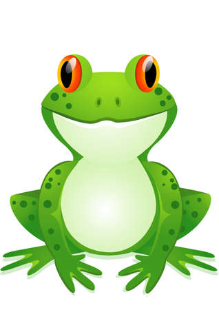 cartoon animal: Funny toad cartoon Illustration