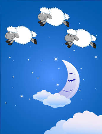 Three jumping sheeps Vector