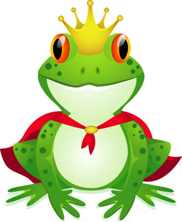 King of frog cartoon Vector