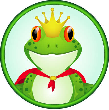 prin: Rey de la rana de dibujos animados