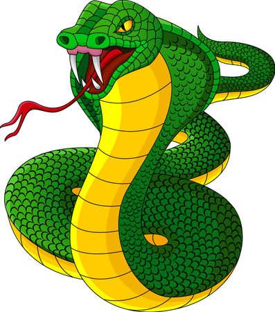 Angry cobra carton Stock Illustratie