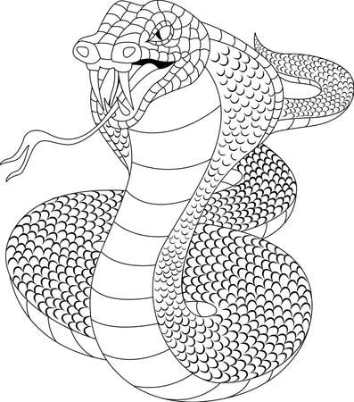 Cobra tatto Vector