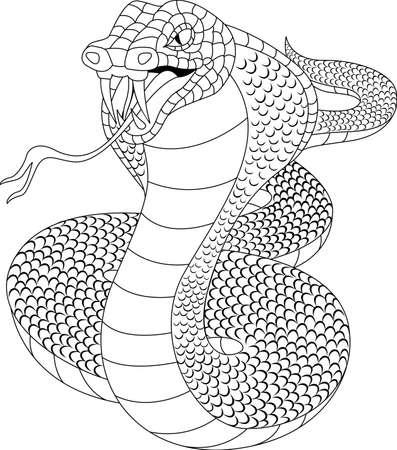 Cobra tatto Vector
