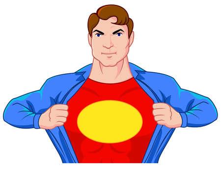 Superhero undercover Vector