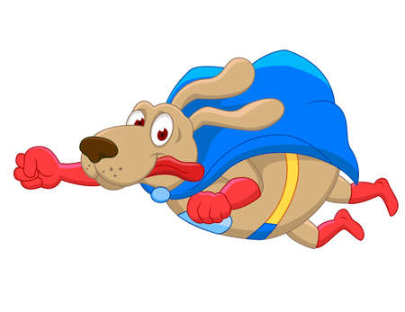 Superdog cartoon Vector