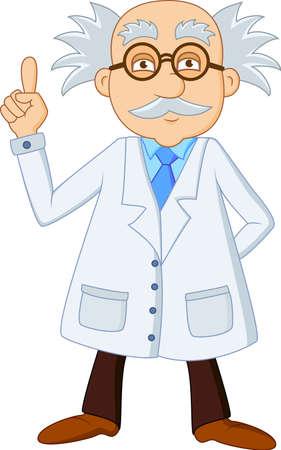 medico caricatura: Cient�fico divertido personaje de dibujos animados Vectores