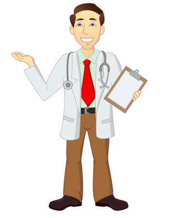 cartoon funny doctor Vector