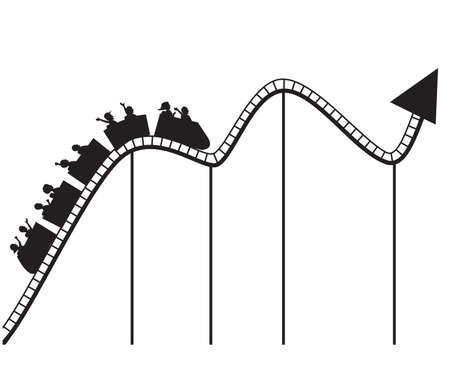 Graphe Roller coaster Banque d'images - 13281569
