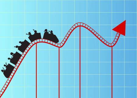 Graphe Roller coaster Banque d'images - 13281600