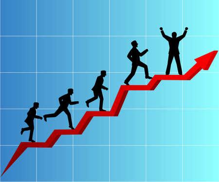 Geschäftsleute Wettbewerb Illustration