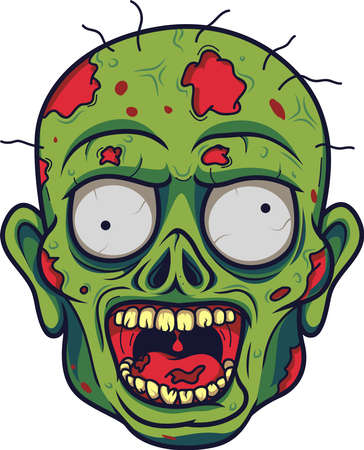 Cartoon zombie head