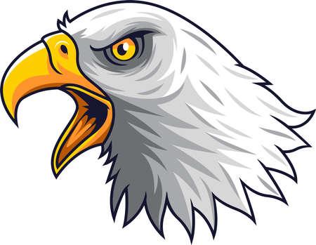 Cartoon Eagle head mascot