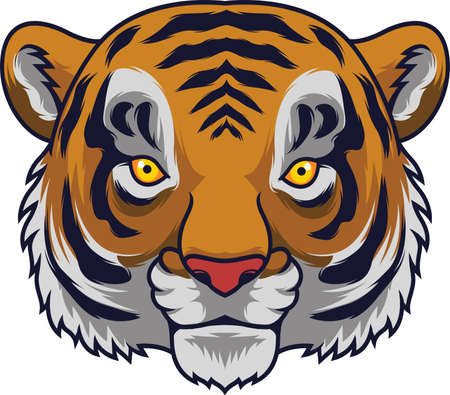 Cartoon Tiger head mascot