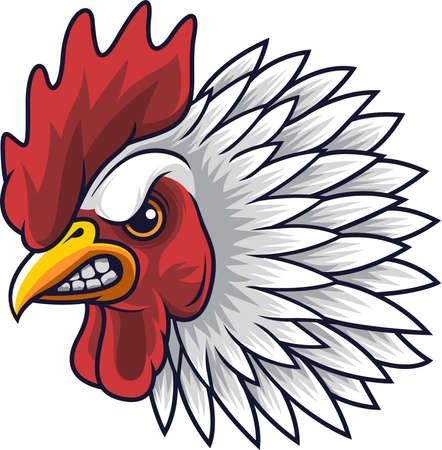 Mascotte de tête de coq de poulet Vecteurs