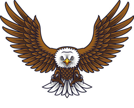 Cartoon eagle mascot