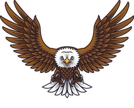 Cartoon eagle mascot