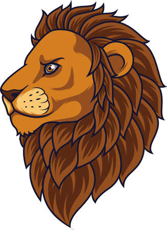 Cartoon lion head mascot