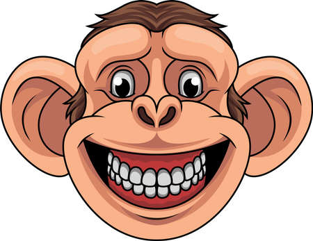 Cartoon monkey head mascot