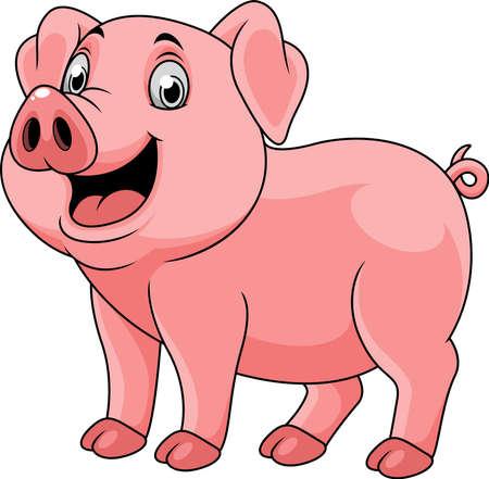 Cartoon glückliches Schwein