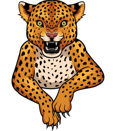 Cartoon Leopard mascot