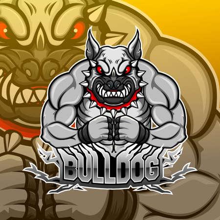 Bulldog esport mascot logo design