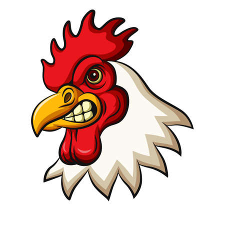 Chicken rooster head mascot design