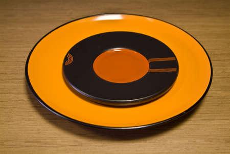 Orange ceramic plate Stock Photo - 7226268