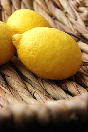 fresh lemons in a basket