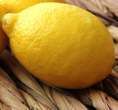 fresh lemon in a basket
