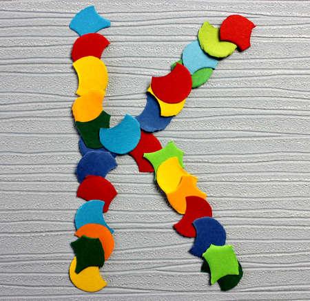 colorful letter alphabet K Stock Photo
