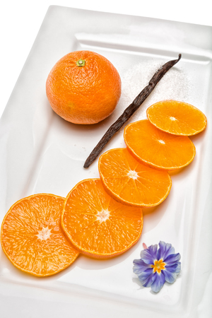 Tangerine  Citrus fruit has a lot of vitamins and low in calories photo