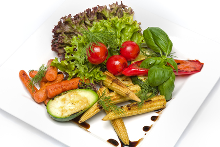 Fresh raw vegetables as the basis of a healthy lifestyle photo