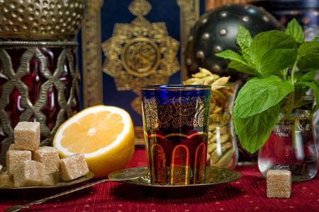 Traditional Arabian mint tea photo