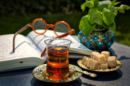 Traditional Arabian mint tea is very refreshing and tasty