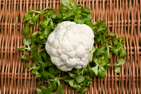 Cauliflower and broccoli are a great healthy vegetables photo