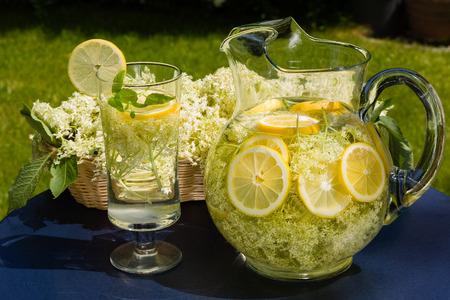 Drink of elder flowers is very refreshing and healthy