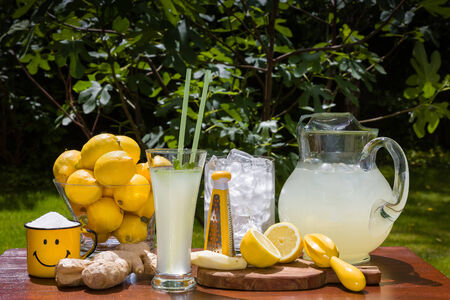 Ginger lemonade in the summer perfectly refreshes photo