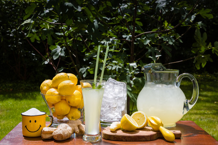 Ginger lemonade in the summer perfectly refreshes Stock Photo - 28829634