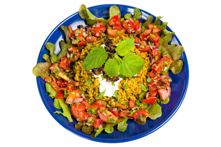 rican: Mejadra is a traditional Arab dish of lentils and rice